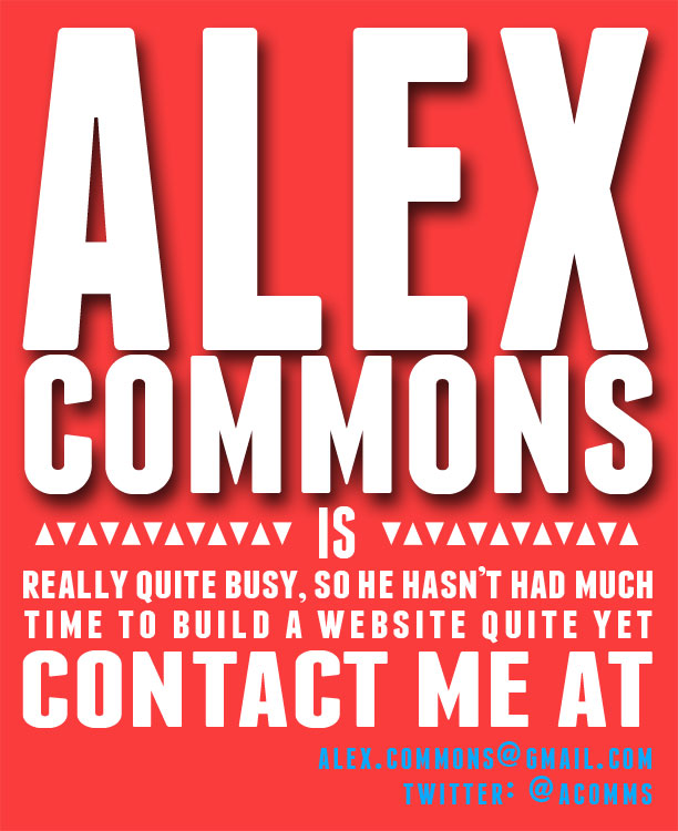 contact me at alex.commons@gmail.com